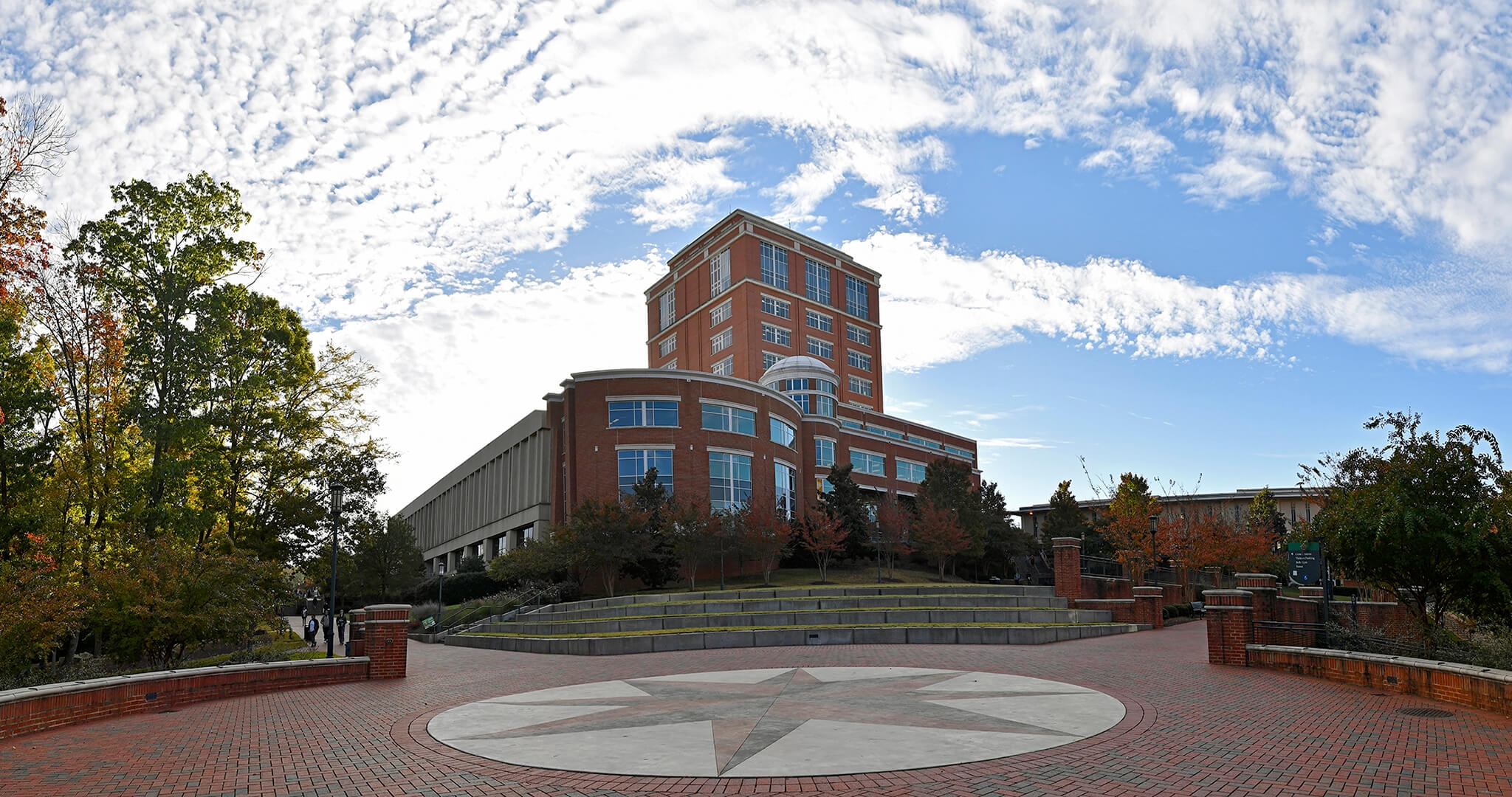 Atkins Library and the Star Quad at UNC Charlotte